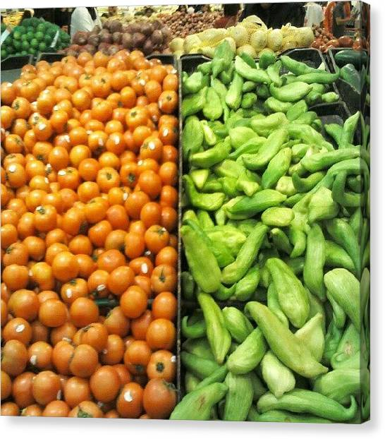 Peruvian Canvas Print - #colorful #vegetables #red #green #food by Carlu Chi