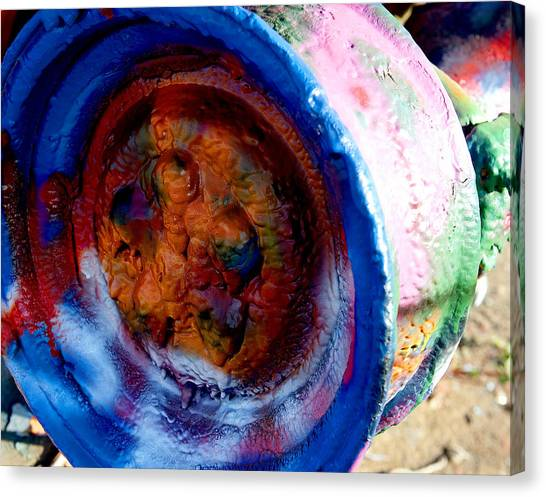 Colorful Wheel Canvas Print by Malania Hammer