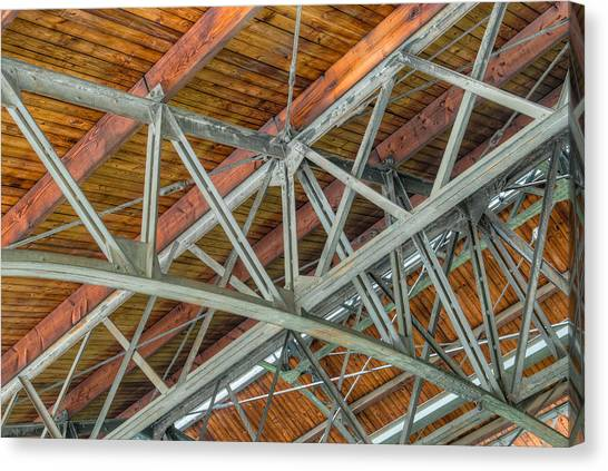 Colorized Trusses Canvas Print