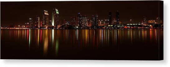 Colors Of The Night Canvas Print by Olga Vlasenko