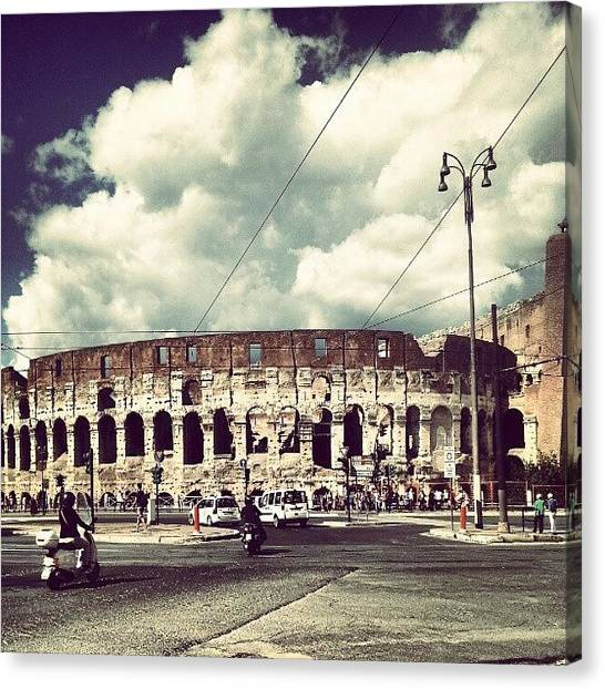 Roman Art Canvas Print - #colosseo #roma #colosseum #rome by Lorenzo Petrarca