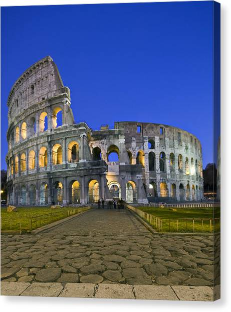 Colosseum At Blue Hour Canvas Print