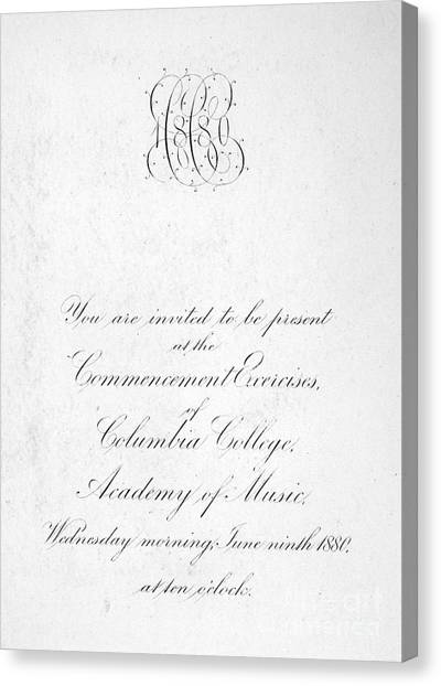 Columbia University Canvas Print - Columbia: Commencement by Granger