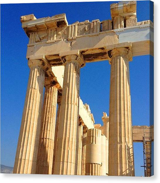 Greek Art Canvas Print - Columns #greek #column #columns #temple by Dimitre Mihaylov