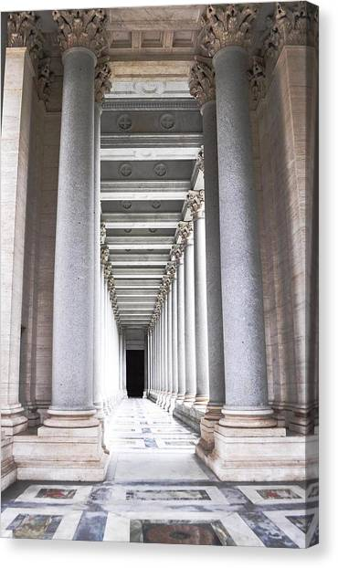 Columns In Basilica St. Paul Canvas Print by Heather Marshall