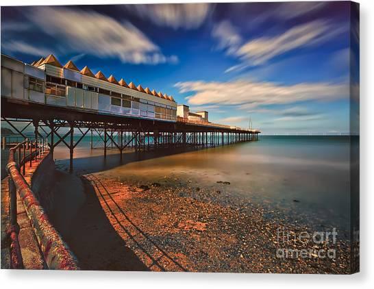 Colwyn Bay Canvas Print - Colwyn Pier by Adrian Evans