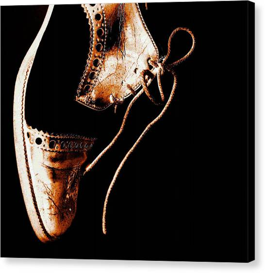 Tap Dance Canvas Print - Come Back And Dance by Claudia Boeckelmann