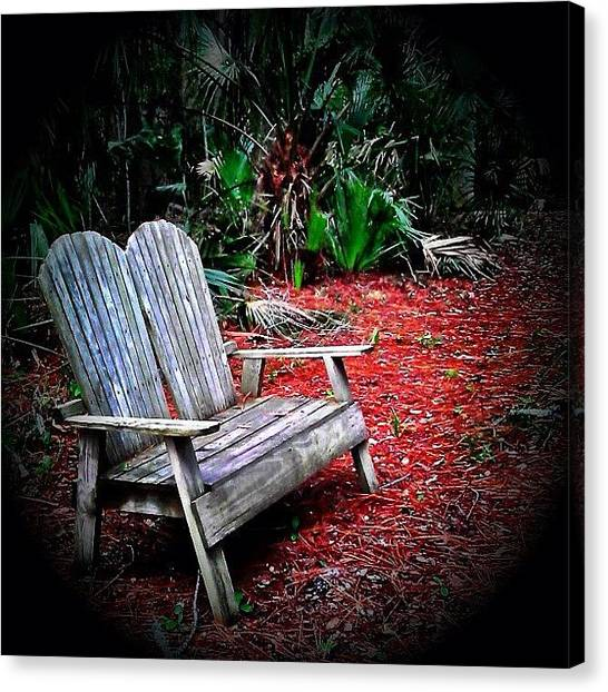 Iphone 4 Canvas Print - Come Sit With Me - I Could Use The by Photography By Boopero