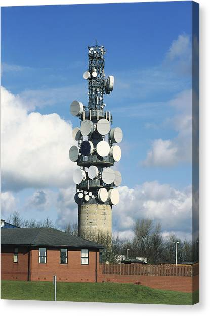 Communications Tower Canvas Print by Andrew Lambert Photography
