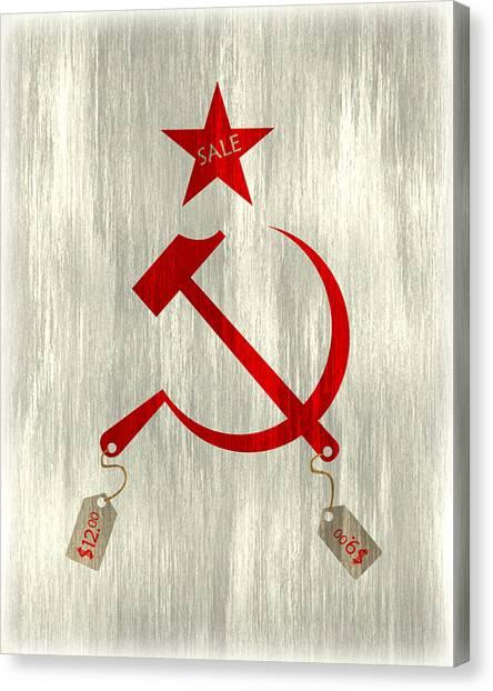 Communism Vs. Capitalism Canvas Print by Bojan Bundalo