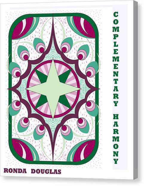 Complementary Harmony Canvas Print