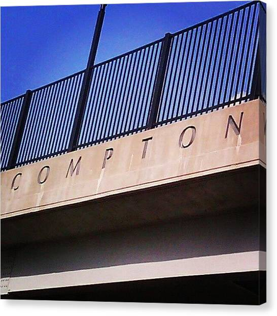 Saints Canvas Print - Compton by Anna Beasley
