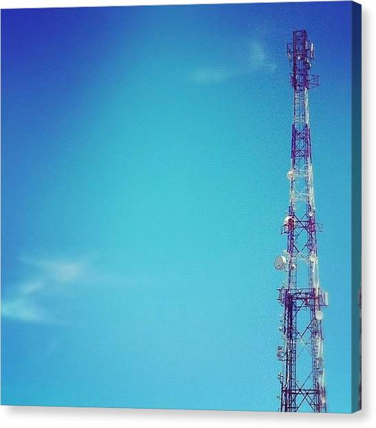 Satellite Canvas Print - Comunicación #iphonegrafia #instagood by Jose Mata