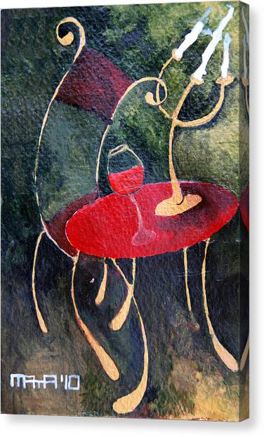 Concert For Single Chair Canvas Print