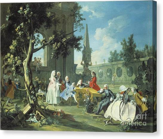 Harpsichords Canvas Print - Concert In A Garden by Filippo Falciatore