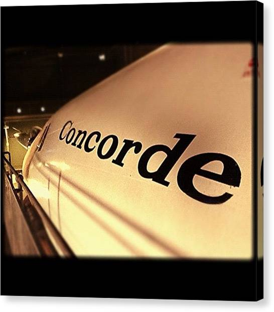 Helicopters Canvas Print - Concorde by Chris Davison