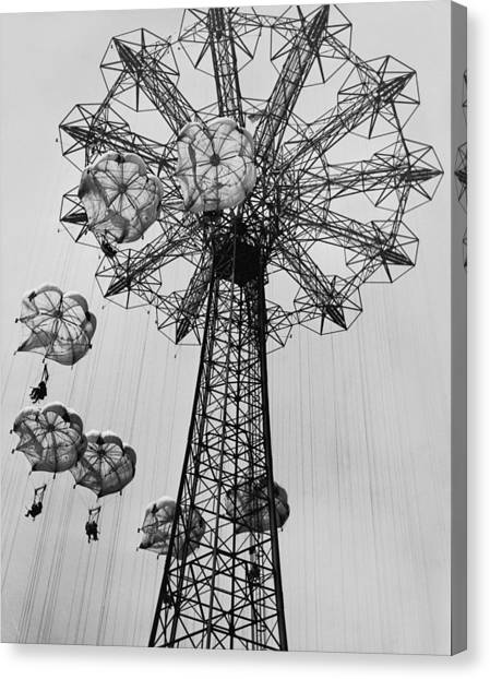 Coney Island Ride Canvas Print by Archive Photos
