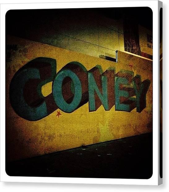 Graffiti Canvas Print - Coney by Natasha Marco