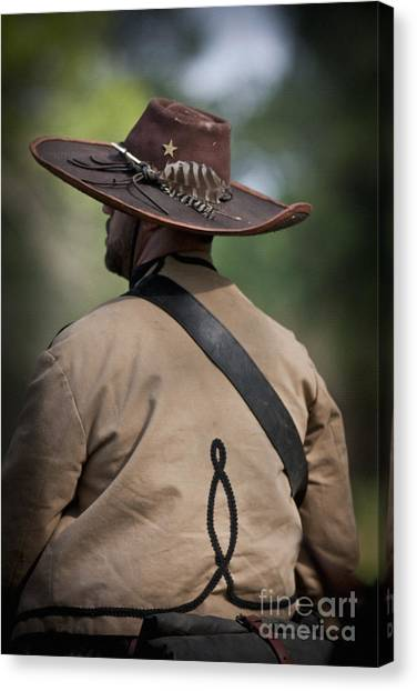 Confederate Cavalry Soldier Canvas Print
