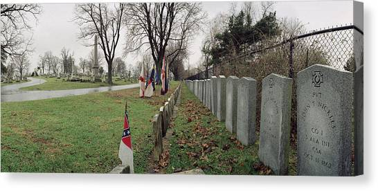 Confederate Graves Canvas Print by Jan W Faul