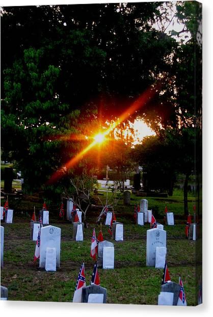 Confederate Sunset Canvas Print