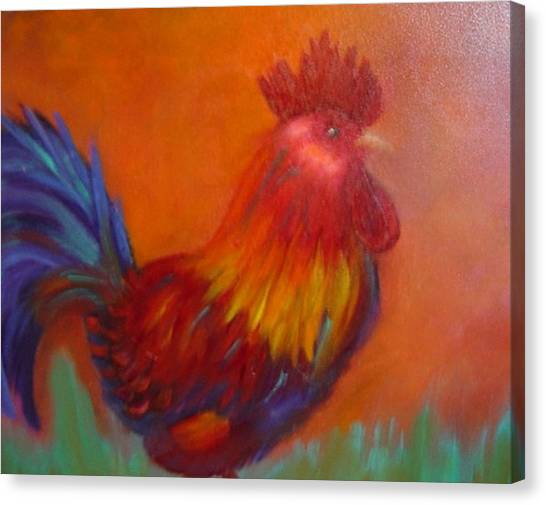 Confident Rooster Canvas Print