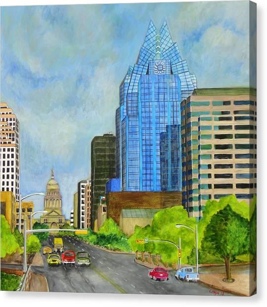 Congress Avenue Austin Texas Canvas Print