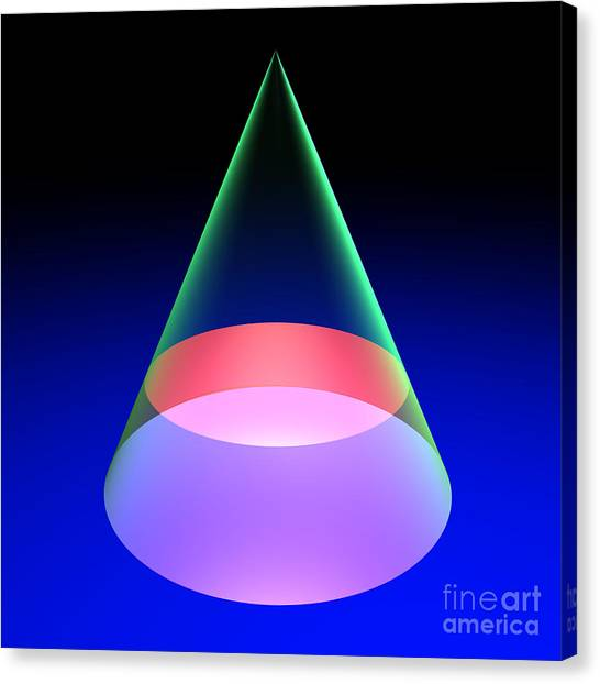 Conic Section Circle 6 Canvas Print