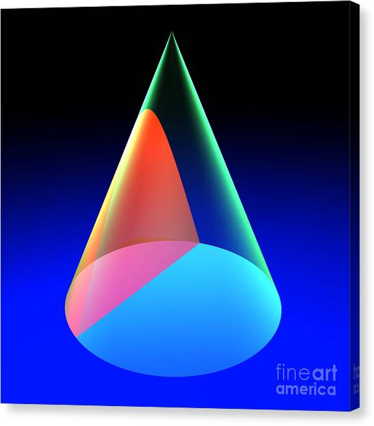 Conic Section Hyperbola 6 Canvas Print