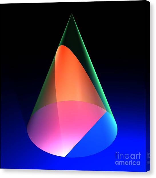 Conic Section Parabola 6 Canvas Print