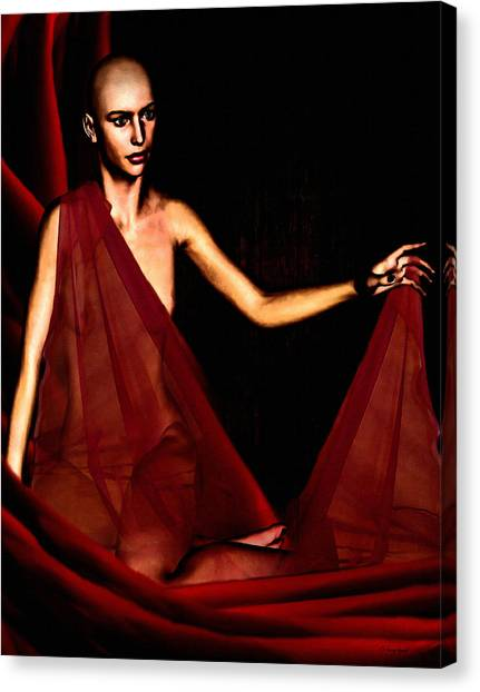 Breast Cancer Canvas Print - Conquerable Quest by Lourry Legarde
