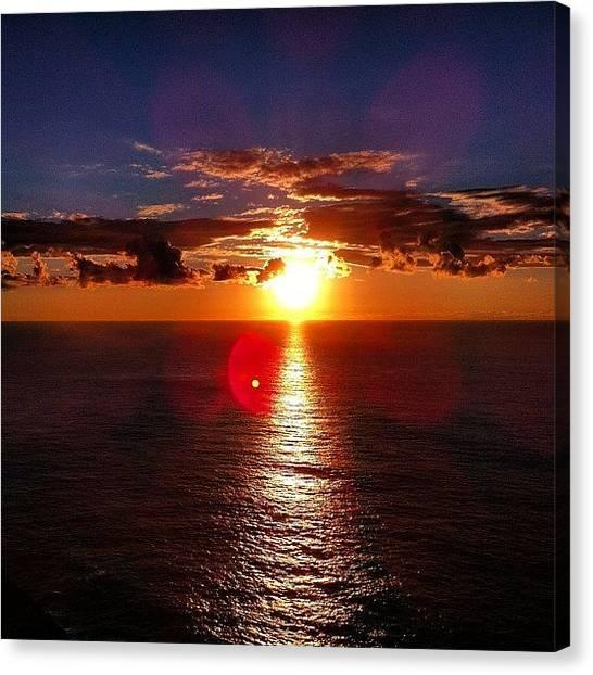 Ocean Sunrises Canvas Print - #contestgram #ctsgr6 #coulds #sky #sun by Regan Webb