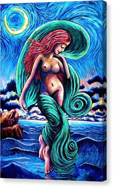 Convergence Of The Feminine Canvas Print