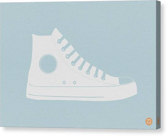 Whimsical Canvas Print - Converse Shoe by Naxart Studio