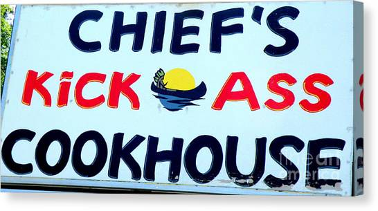Cookhouse Sign  2 Canvas Print