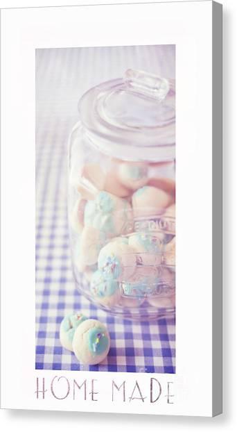 Chequered Canvas Print - Cookie Jar by Priska Wettstein