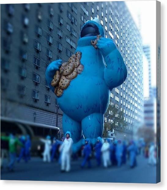 Thanksgiving Canvas Print - Cookie Monster! #philadelphia by Christian Carollo