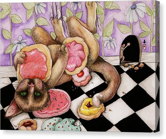 Cookie Puss Canvas Print