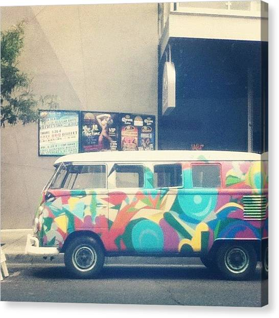 Saws Canvas Print - #cool #artistic #van #saw In #downtown by Andres Correa