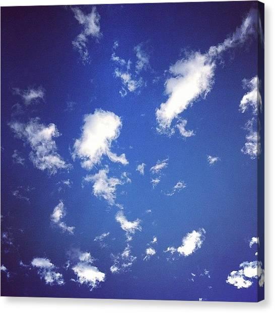 Santa Monica Canvas Print - Cool Clouds Waking Up Santa Monica This by Lana Rushing