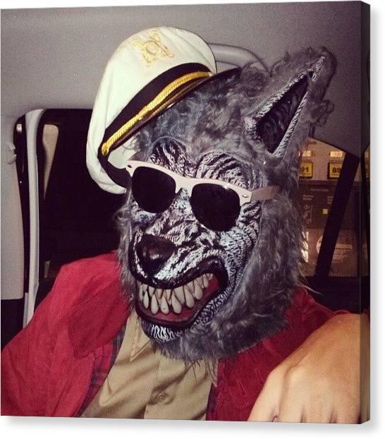Bachelor Canvas Print - Cool Guy #wolf #bachelor #captain by Susanna Lara