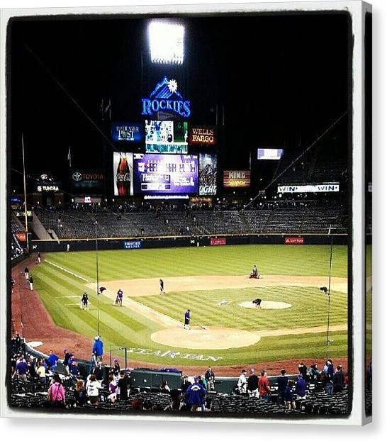 Baseball Teams Canvas Print - Coors Clean Up by The Ambs