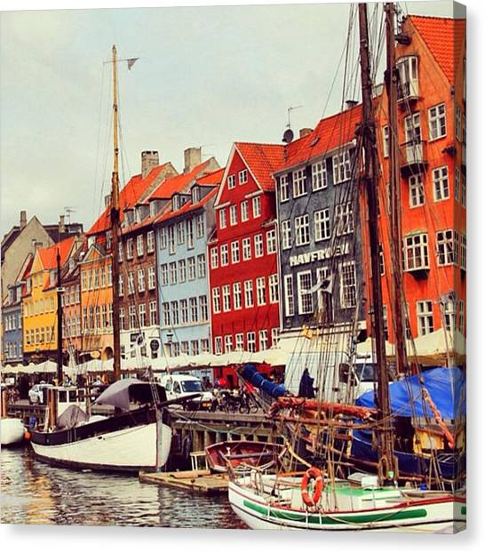 Seas Canvas Print - Copenhagen by Luisa Azzolini