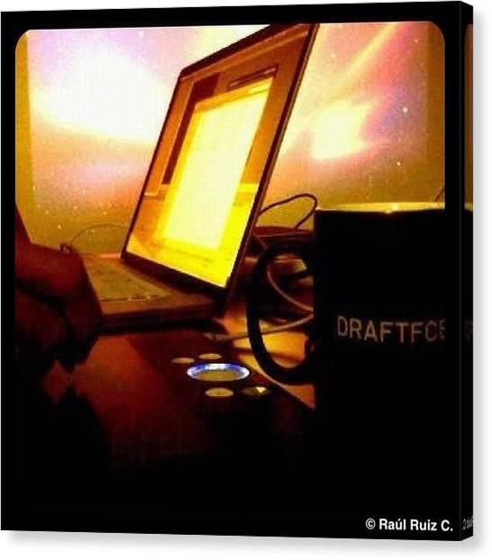 Mac Canvas Print - Copia De Trabajo #instagood #tweegram by Raul Ruiz