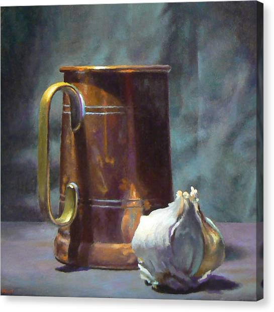 Copper And Garlic Canvas Print by Jeffrey Hayes