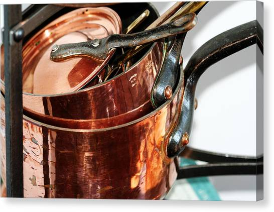 Copper Pots Canvas Print