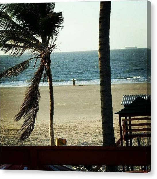 Mars Canvas Print - #coqueiros #praia #pessoas #sol #areia by Richard Rafael