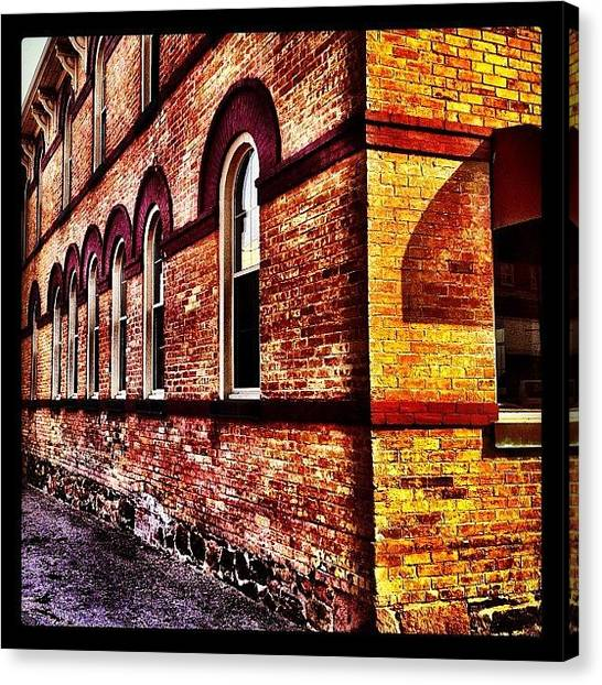 Architectureporn Canvas Print - Corner Building by Christopher Campbell