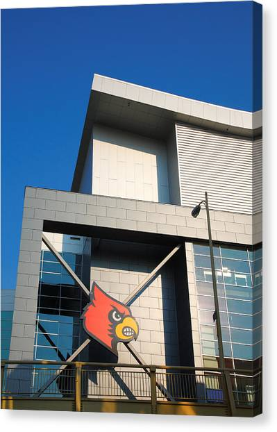 University Of Louisville Canvas Print - Corner Of Kfc Yum Center by Steven Ainsworth
