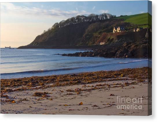 Cornish Seascape Meanporth Canvas Print